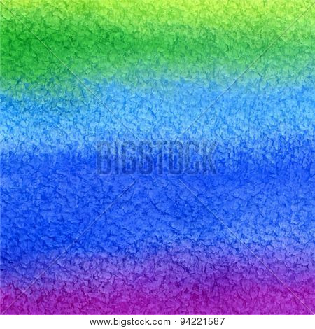 Vector Watercolor Background In Green, Blue And Purple Colors