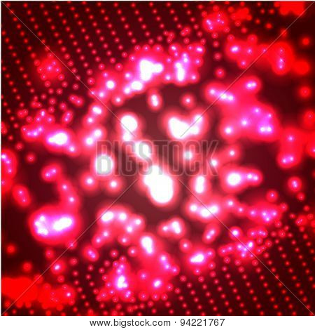 Vector glowing red micro cosmos background. Eps10