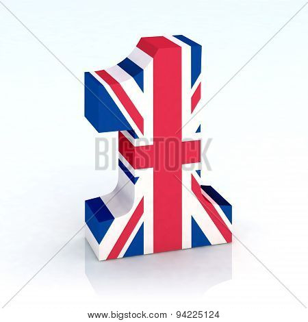 Number One made with English Flag