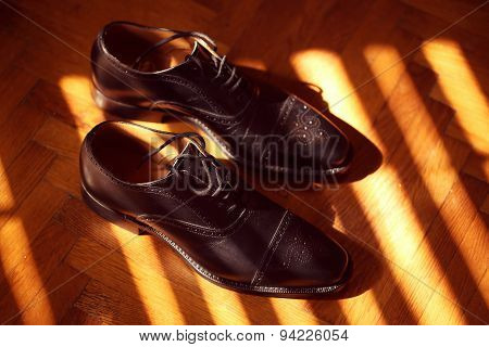 Grooms Shoes On Sunlight
