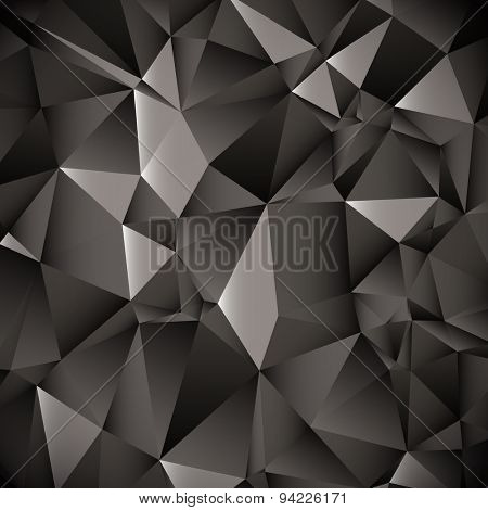 Black and White Dark Lowpoly Vector Background | EPS10 Design