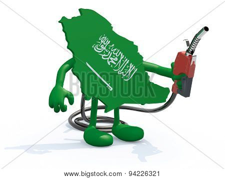 Saudi Arabia Map With Fuel Pump