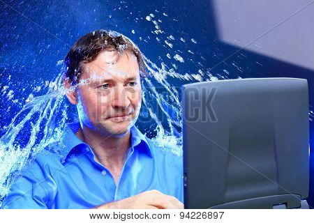 Water Splash In Office
