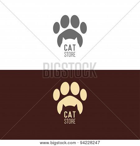 Logo Inspiration For Shops, Companies, Advertising  With Cat