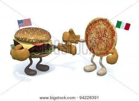 Hamburger Vs Pizza
