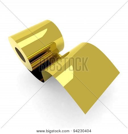 Roll Toilet Paper Gold