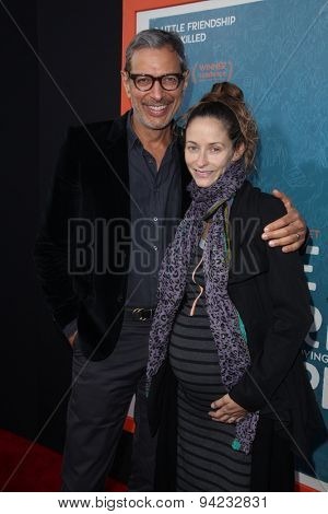 LOS ANGELES - JUN 3:  Jeff Goldblum, Emilie Livingston at the
