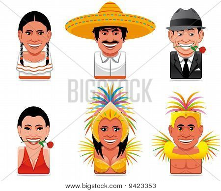 Avatar World People Icons(mexican,argentinian,brazilian)