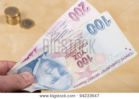 Two hundered Turkish Liras