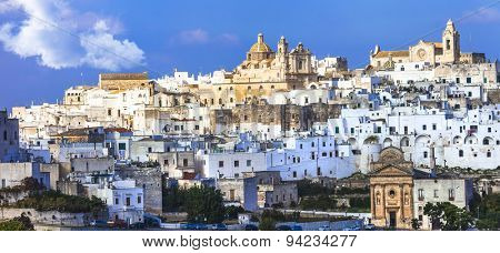 Ostuni - white city in Puglia, south of Italy