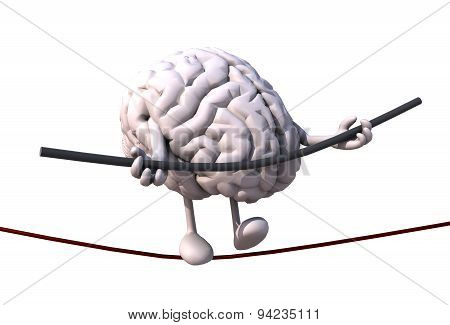 Brain Acrobat Who Walks On A Wire