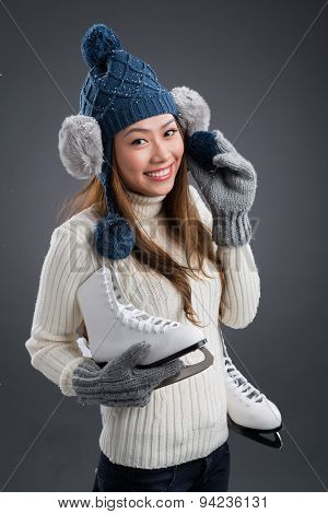 Woman With Figure Skates