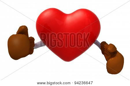 Heart With Boxing Gloves