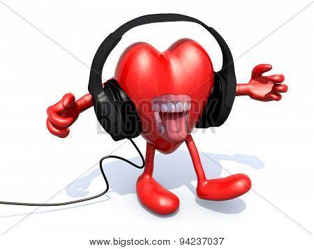 Headphones On A Big Heart