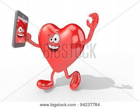 Heart Take A Self Portrait With Her Smart Phone