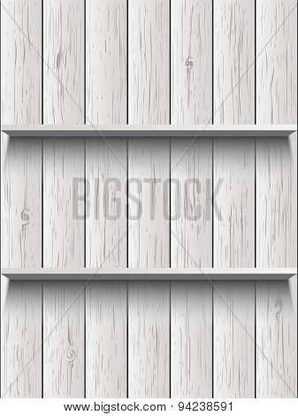 Blank wooden shelf