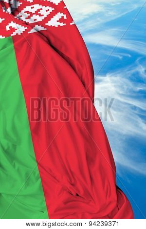 Belarus waving flag on a beautiful day