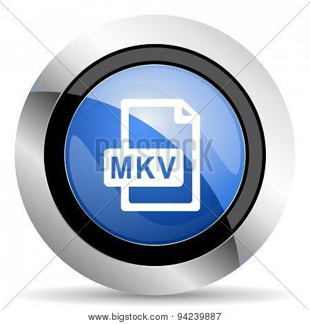 mkv file icon original modern design for web and mobile app on white background