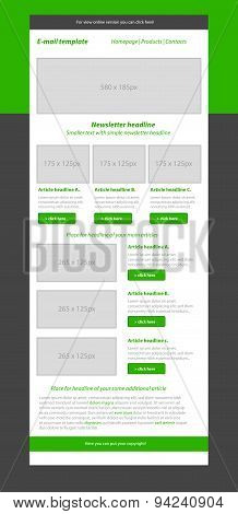 Newsletter Green Template With Business Style