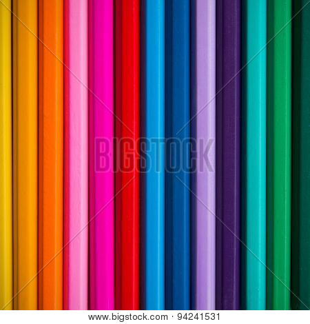 Background Of Colored Pencils
