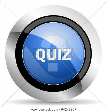 quiz icon original modern design for web and mobile app on white background