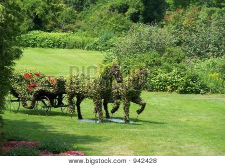 Garden Horse And Carriage