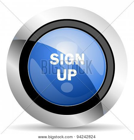 sign up icon original modern design for web and mobile app on white background