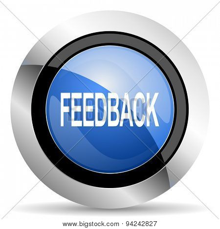 feedback icon original modern design for web and mobile app on white background