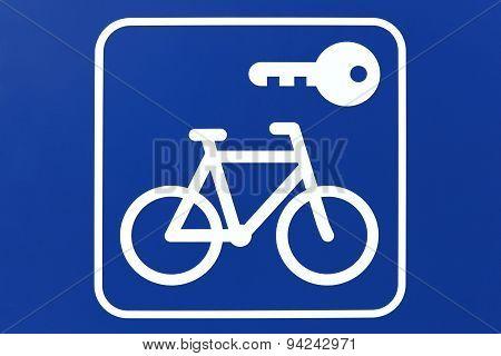 Bike rental pictogram