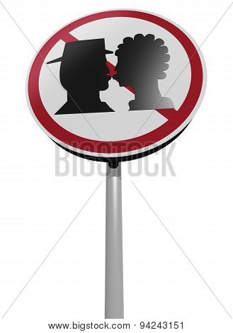 Kissing Zone Traffic Sign