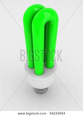 Green Luminescent Light Bulb