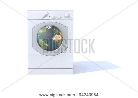 Washing Machine With The World Inside