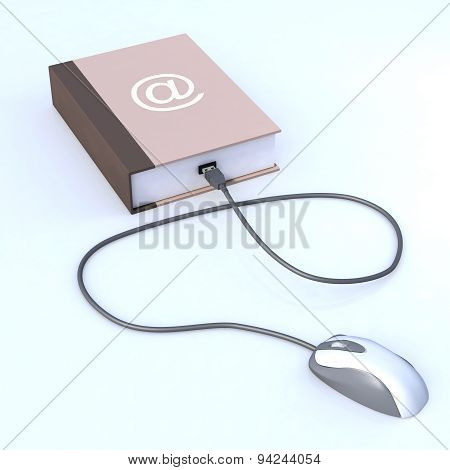 Book With Mouse Connected