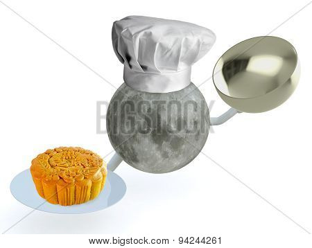 Moon Chef With Mooncake