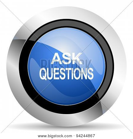 ask questions icon original modern design for web and mobile app on white background