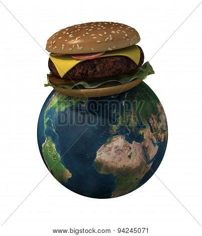 World With Hamburger