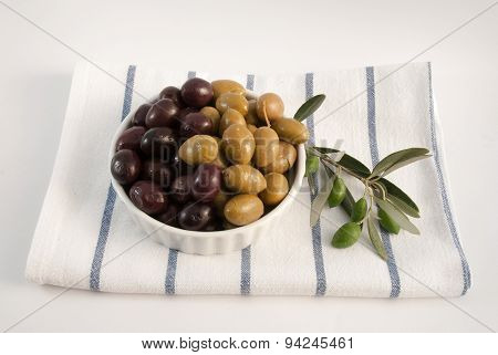 Olives Isolated On White Background