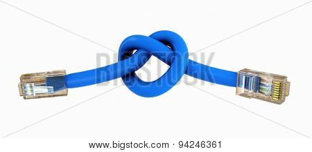 Connected Internet Cables With Hearth Sign Knot
