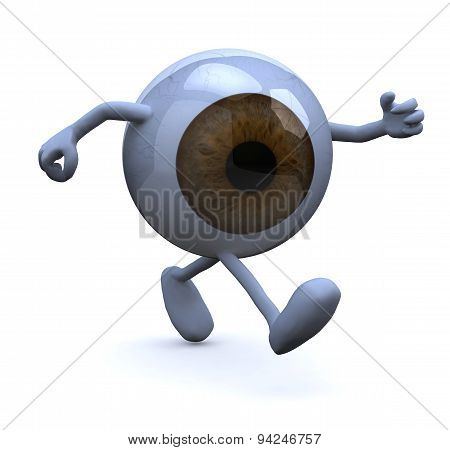 .eye With Arms And Legs Running