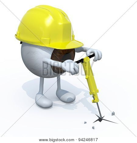 Eyeball With Arms, Legs, Worker