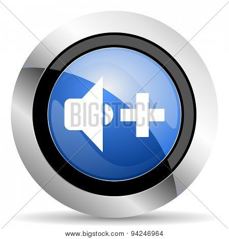 speaker volume icon music sign original modern design for web and mobile app on white background