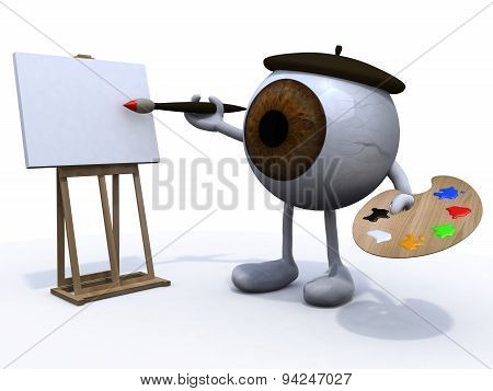 Big Eye With Arms And Legs Painter