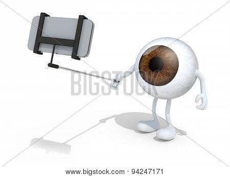 Big Ball Eye Take A Self Portrait With Smartphone