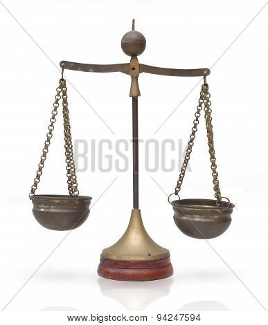 Law Scales, Balance Weights : Symbol Of Justice