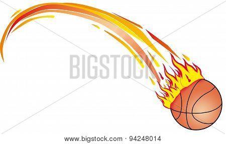 Basket Ball On Fire