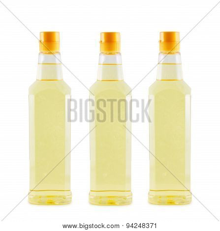 Vegetable Oil Coconut Isolated Background.