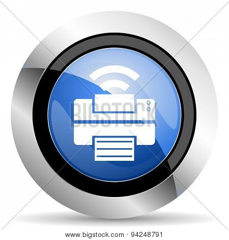 printer icon wireless print sign  original modern design for web and mobile app on white background