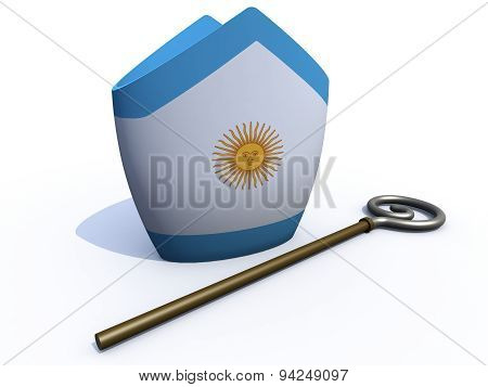 Argentine Pope Hat And Crosier