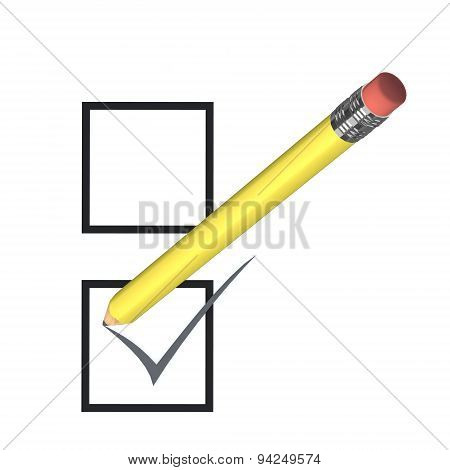 Voting Concept With Yellow Pencil