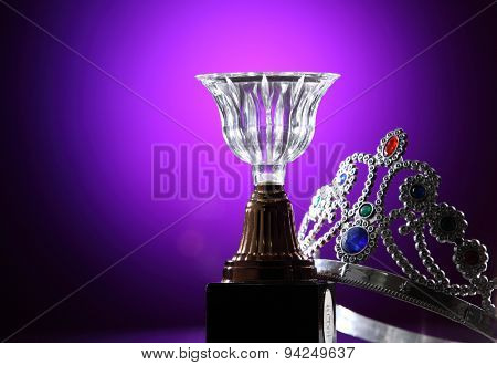 crystal trophy and the crown
